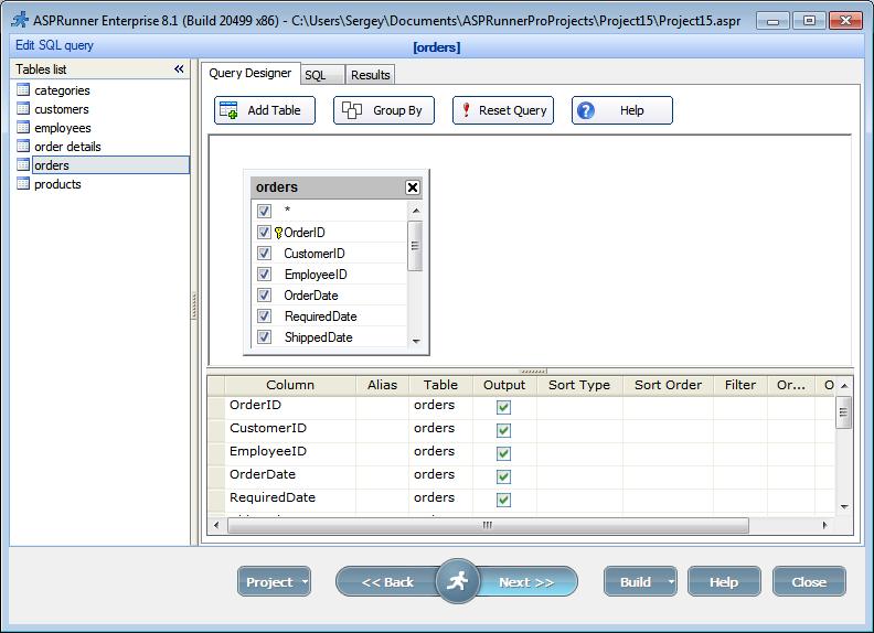 Edit SQL Query