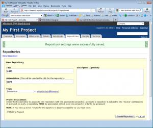 Creare repository