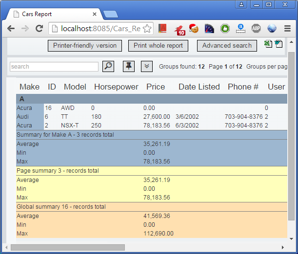 How to build database reports with PHP and MySQL